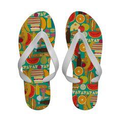 nom nom flip flops #picnic #flipflos #sharonturner #zazzle