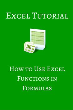 In this tutorial, we show you how to use Excel functions in formulas. You will learn how to write an Excel function and insert it using the dialog box.