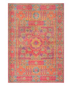 Designed to be the center of attention, this eye-catching rug boasts a vintage-inspired style and durable construction.