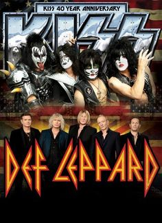 KISS Def Leppard I was there! One of the best concerts I have ever seen! Bruce Dickinson, Great Bands, Cool Bands, Kiss Online, Kiss Band, Rock Of Ages, Hot Band, Rock Groups, Rock Concert