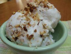 Coconut Almond Kefir Ice Cream
