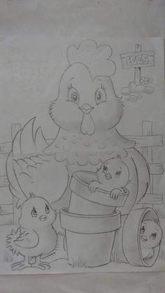 Art Drawings For Kids, Pencil Art Drawings, Bird Drawings, Art Drawings Sketches, Cartoon Drawings, Easy Drawings, Animal Drawings, Coloring Book Art, Cute Coloring Pages