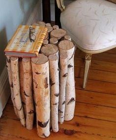 birch side table