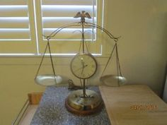 Vintage American Eagle Brass Mantle Clock with Scales of Justice City of Toronto Toronto (GTA) image 1