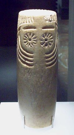 "Eyed idol called ""of Extremadura"" (Copper Age, M. Ancient History, Art History, Cow Horns, Iron Age, Ancient Artifacts, Rock Art, New Art, Sculpture Art, Idol"