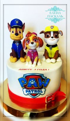 Torta Paw Patrol, Paw Patrol Cake Toppers, Paw Patrol Birthday Cake, Paw Patrol Party, Cake Disney, Cumple Paw Patrol, Character Cakes, Cakes For Boys, Love Cake