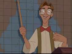 [Day 3 - Favorite prince: Milo Thatch. Yes, I know he isn't generally regarded as a prince, but he married Kida, who is a QUEEN. So he totally counts. I picked him because he's smart, adventurous, and he wears a bow tie! :) Also, thanks to him, I've wanted to become a linguist and learn as many languages as I can - even if it's a dead one. I've already started to learn ASL and French. So, he's inspiring, too. And he totally saves his girl AND an entire civilization!]