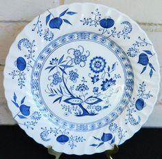 """Johnson Brothers Ironstone Blue Nordic Dinner Plate Made in England 10"""""""