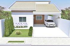 Ryan Shed Plans Shed Plans and Designs For Easy Shed Building! Bungalow Homes, Bungalow House Design, Small House Design, Flat Roof House, Carport Designs, Kerala Houses, Pinterest Home, House Entrance, Small House Plans