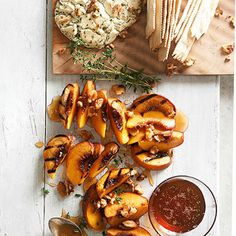 Plank-Smoked Peaches and Goat Cheese #MemorialDay #weekend #party #onthegrill