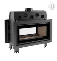 two sided wood burning fireplaces double fireplace insert 3 stove Double Fireplace, See Through Fireplace, Fireplace Inserts, Skylight, Wood Burning, Kitchen Appliances, Cabin, Flooring, Glass