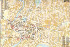 Thailand Bangkok City Streets Map
