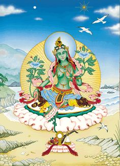 Tara is a goddess in the Mahayana tradition and is especially venerated in vajrayana (Tibetan) Buddhism. She is the mother of liberation, and represents the virtues of success in work and achievements.