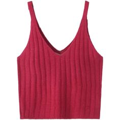 Burgundy V-neck Spaghetti Strap Knit Crop Top (145 GTQ) ❤ liked on Polyvore featuring tops, crop, crop top, shirts, spaghetti strap top, v neck tops, burgundy shirt, burgundy top and spaghetti strap crop top