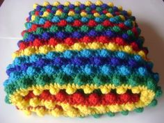 Love this rainbow effect! Blackberry Blanket by moogly