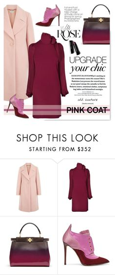 """""""Hey, Girl: Pretty Pink Coats"""" by serepunky ❤ liked on Polyvore featuring Hobbs, Gucci, Fendi, Jimmy Choo, Bobbi Brown Cosmetics, Zimmermann, Wild Rose, Pink and pinkcoat"""