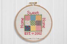 PDF Cross Stitch Home Sweet Home Cross Stitch by homestitchness