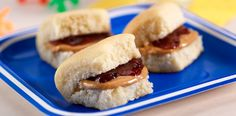 Bite Sized Peanut Butter Jelly - This deliciously simple recipe just got tiny. Sister Schubert's Parker House Style Rolls give these small sammies some homemade taste…pure and simple. #MarzettiRecipes #spon
