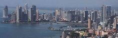 Panama from the air: Cinta costera, Av Balboa, Punta pacifica  Panama City, Panama