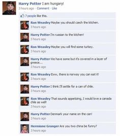 Harry Potter and puns all mixed together? Too awesome to handle Harry Potter Puns, Harry Potter Marauders, Harry Potter Characters, Harry Potter Universal, Harry Potter World, Harry Potter Texte, Funny Work Jokes, Silly Jokes, Social Networks