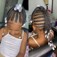 Toddler Braided Hairstyles, Toddler Braids, Childrens Hairstyles, Cute Little Girl Hairstyles, Black Kids Hairstyles, Little Girl Braids, Natural Hairstyles For Kids, Baby Girl Hairstyles, Kids Braided Hairstyles