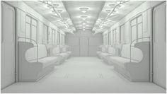 3ds max making of subway train
