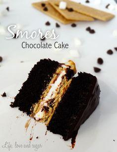 Smores Chocolate cake