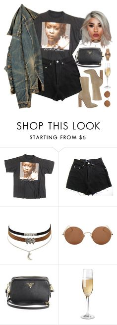 """""""ocean drive - 21 savage"""" by demirese ❤ liked on Polyvore featuring YEEZY Season 2, Charlotte Russe, Sunday Somewhere, Prada, Wine Enthusiast and Topshop"""