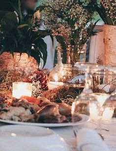 #ringsontheizings Woodland Wedding Table Centerpiece : whimsical, fairy tale, summer, outdoors, happily ever after, rustic, ranch decor, DIY antique floral, floating candles Floral: Margareta Warlick photographer: Jessie Cleveland