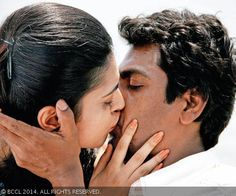 Nawazuddin Siddiqui shares an on-screen kiss with Niharika Singh, a former beauty queen turned actress in their film Miss Lovely.