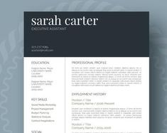 Resume Design : Resume Templates for Word CV Template by ResumeFoundry on Etsy - Resumes. Modern Resume Template, Creative Resume Templates, Cover Letter For Resume, Cover Letter Template, References Page, Word Free, Job Posting, Resume Writing, Resume Design