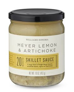 Make Williams Sonoma your source for gourmet foods and professional-quality cookware. Choose small kitchen appliances, cooking utensils and decor that match your cooking and entertaining style. Label Design, Packaging Design, Graphic Design, Cooking Utensils, Williams Sonoma, Sauce, Artichoke, Skillet