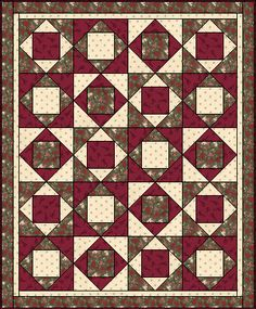 Practice Paper Piecing  http://www.quilterscache.com/E/EconomyBlock.html