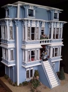 Miniature Victorian Dollhouse 1:24 FULL Artisan William Clinger Michael Mortimer