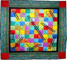 Snakes and Ladders Game Quilt Pattern BTH-023 (intermediate)