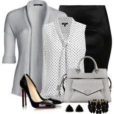Work outfit by on -love it all but I'd wear a blazer or less casual sweater! Classy Work Outfits, Glamorous Outfits, Business Casual Outfits, Professional Outfits, Work Casual, Chic Outfits, Office Fashion, Business Fashion, Work Fashion