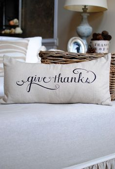 Give Thanks pillow $24.95 from dear lillie