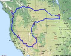 Driving Directions from Grand Forks, North Dakota to dream road trip
