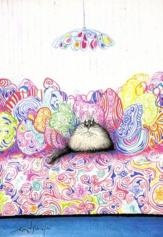 Ronald Searle's Big Fat Cat Book by Queenie & the Dew