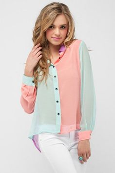 fun multicolor blouse