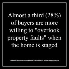 Important statistic about #staging your home to #sell.
