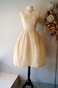 Charming buttercream dress