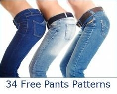 34 Free Pants Patterns