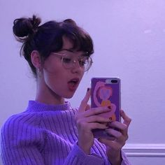 Fashion girl face bangs 18 new ideas, # face # ideas # girl # fashion # new # pony Aesthetic Hair, Purple Aesthetic, Aesthetic Makeup, Aesthetic Clothes, Aesthetic Grunge, Hair Inspo, Hair Inspiration, Spiderbite Piercings, Model Tips