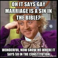 """Separation of church and state! Remind where the exemptions are to """"liberty and justice for all""""?"""