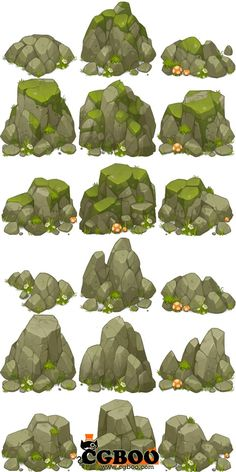 Love the chunky shapes of these rocks (although the color is wrong for our black cliffs).
