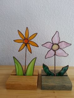 orange stained glass flower