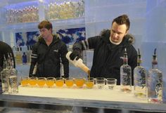 Minus 5 Ice Bar at Mandalay Bay and Monte Carlo. The entire bar including glasses are made of solid ice!
