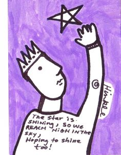 Art Card by Holly Hinkle  Original art folk outsider illustration ink Haiku #OutsiderArt