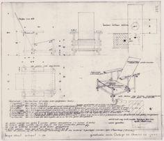 Gerrit Rietveld, Silla Roja y azul Outdoor Furniture Plans, Cool Furniture, Furniture Design, Piet Mondrian, Layout Design, Icon Design, Rietveld Chair, Schroder House, Diy Chair